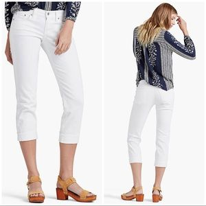 • Lucky Brand white Sweet Crop Jeans •